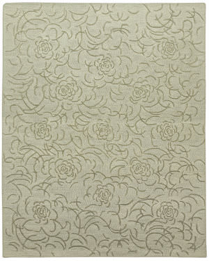 Due Process Barbara Barry Collection Brayton Floral Fog Area Rug