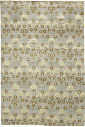 Due Process Empress Arts And Crafts Light Blue Area Rug