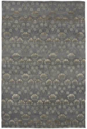 Due Process Empress Arts And Crafts Pewter Area Rug