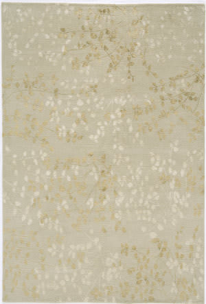 Due Process Empress Leaves Beige Area Rug