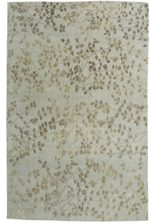 Due Process Empress Leaves Sea Foam Area Rug
