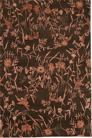 Due Process Empress Spring Brown - Rose Area Rug