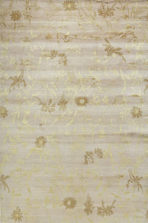 Due Process Empress Spring Ivory - Gold Area Rug