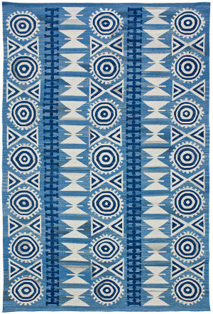 Due Process Flatweave Andalusian 2 Denim Area Rug