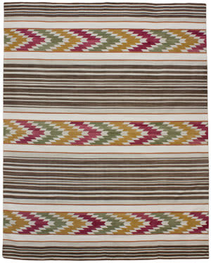 Due Process Flatweave Arrow Ikat Carnival Area Rug