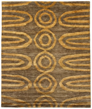 Due Process Ja Brazilia Geo Orange Area Rug