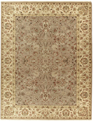 Due Process Jagapatti Agra Taupe - Ivory Area Rug
