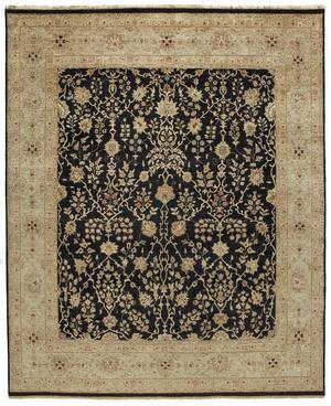 Due Process Jagapatti Sarouk Black-Gold Area Rug