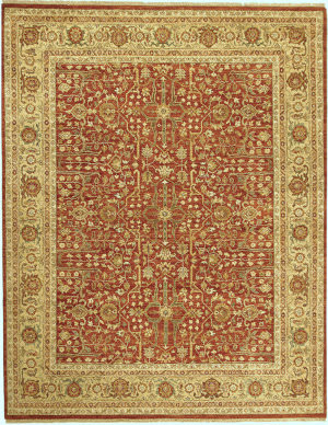 Due Process Jagapatti Ziegler Rust - Gold Area Rug