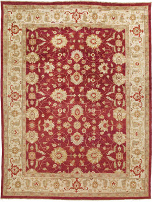 Due Process Jinan Lilihan Red - Cream Area Rug