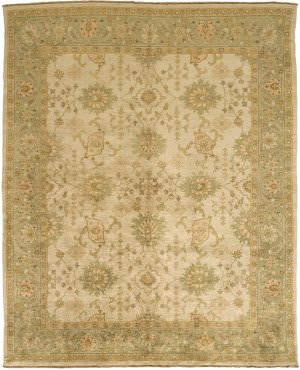 Due Process Jinan Sultanabad Cream - Light Green Area Rug