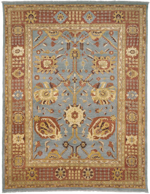 Due Process Jinan Tabriz Grey - Amber Area Rug