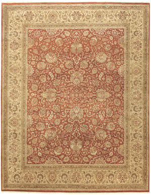 Due Process Kalasha Agra Brick - Cream Area Rug