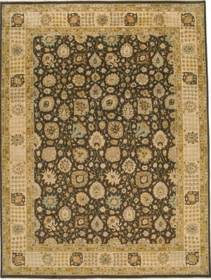 Due Process Kalasha Kashan Mocha - Cream Area Rug