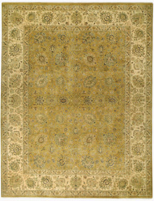 Due Process Kalasha Reatta Gold - Cream Area Rug