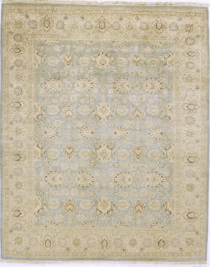Due Process Kandahar Agra Light Blue - Sand Area Rug
