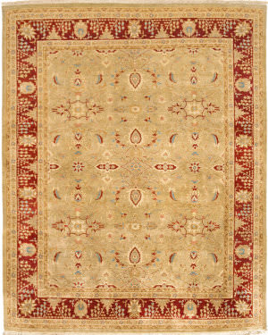Due Process Kandahar Mahal Gold - Red Area Rug