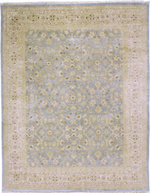 Due Process Kandahar Tabriz Light Blue - Ivory Area Rug