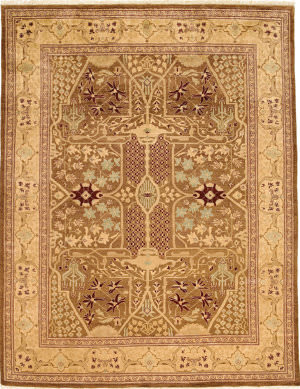Due Process Kandahar Ziegler Brown - Ivory Area Rug