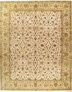 Due Process Kashmir Tabriz Ivory - Gold Area Rug