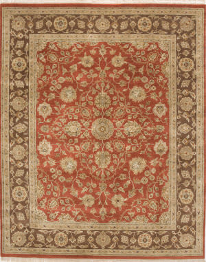 Due Process Kendra Lilihan Brick - Brown Area Rug