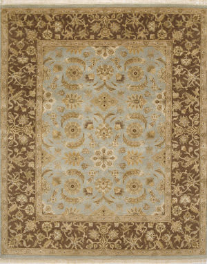 Due Process Kendra Mogul Light Blue - Brown Area Rug