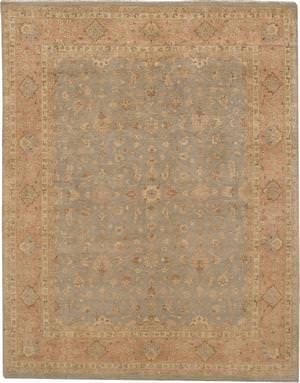 Due Process Khyber Polonaise Silver-Coral Area Rug