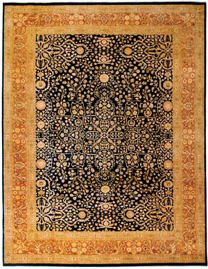 Due Process Khyber Sarouk Navy-Rose Area Rug