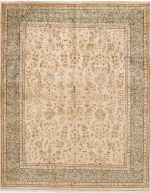 Due Process Khyber Yezd Cream-Aqua Area Rug