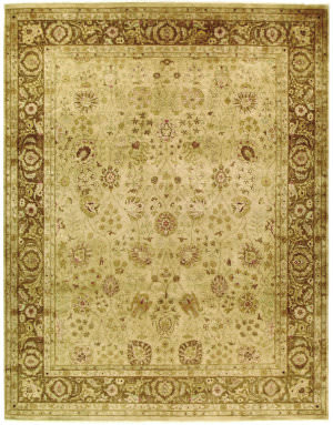 Due Process Khyber Haji Champagne/Brown Area Rug