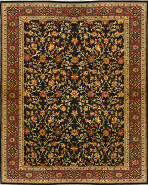Due Process Khyber Zaheer Black Area Rug