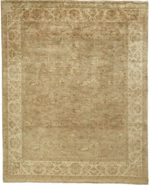 Due Process Khyber Flora Beige - Cream Area Rug