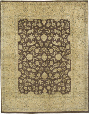 Due Process Khyber Hereke Brown - Gold Area Rug