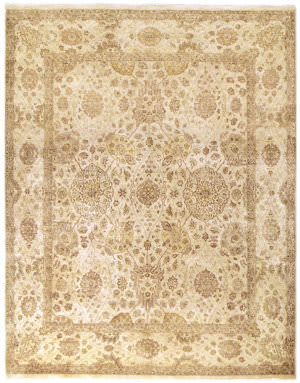 Due Process Khyber Kirman Cream Area Rug