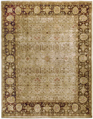 Due Process Khyber Tabriz Cream - Walnut Area Rug