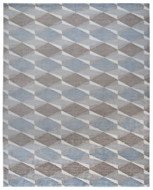 Due Process Lhasa Harlequin Silver Area Rug