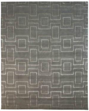 Due Process Lhasa Rhombus Clay Area Rug