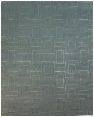 Due Process Lhasa Rhombus Sky Area Rug