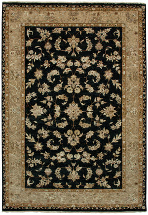 Due Process Madras Kenton Black - Beige Area Rug