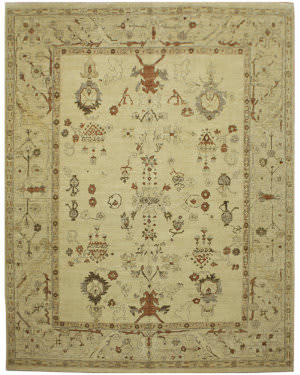 Due Process Malayer Mahal Cream Area Rug