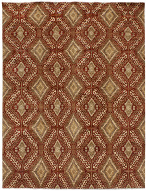 Due Process Mardan Agra Kuba Red Area Rug
