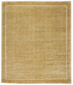 Due Process Mardan Asian Fretwork Sand Area Rug