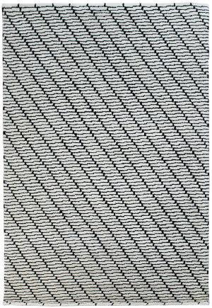 Due Process Ta Screen Black - White Area Rug