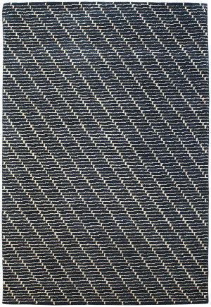 Due Process Ta Screen Denim Area Rug