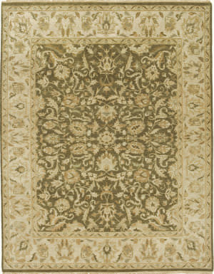 Due Process Mirzapur Tehran Olive - Beige Area Rug