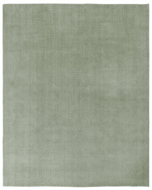 Due Process Modal Herringbone Kiwi Area Rug