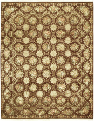 Due Process European Cambridge Brown Area Rug