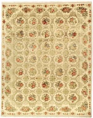 Due Process European Cambridge Ivory Area Rug