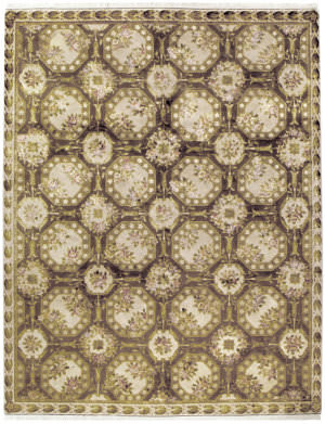 Due Process European Fairfax Nutmeg - Cream Area Rug