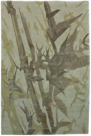 Due Process Nouveau Bamboo Olive Area Rug